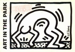 Vintage 1980s Keith Haring announcement card  (Keith Haring Stamford CT)