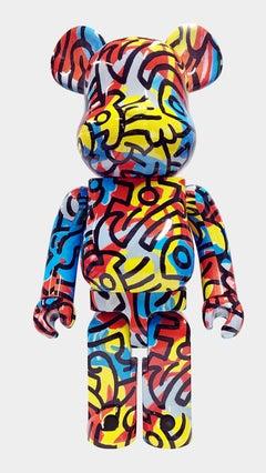 Keith Haring Bearbrick 1000% Companion (Haring designercon BE@RBRICK)
