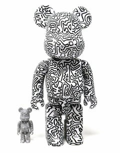 Keith Haring Bearbrick 400% Companion (Haring black & white BE@RBRICK)
