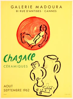 Chagall Ceramiques - Galerie Madoura (after) Marc Chagall, Lithographic Poster