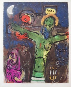 Crucifixion in Green - Lithograph, 1961