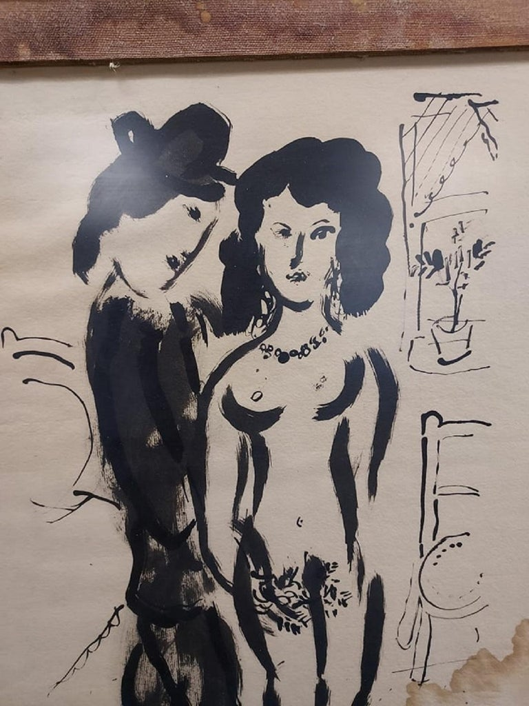 Lovers after Marc Chagall Litho - Print by (after) Marc Chagall