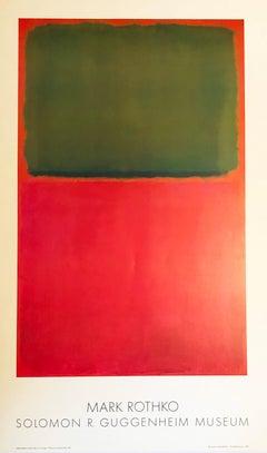 Mark Rothko Guggenheim Museum exhibition poster 1978