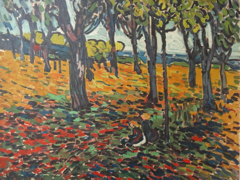 Woods in Chatou - Lithograph, 1972 - Fauvist Print by (after) Maurice de Vlaminck