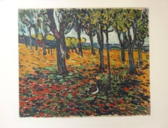 Woods in Chatou - Lithograph, 1972