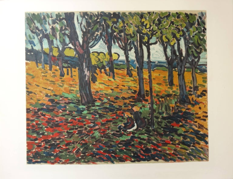 (after) Maurice de Vlaminck Landscape Print - Woods in Chatou - Lithograph, 1972