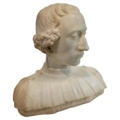 After Mino Da Fiesole, Italian, Marble Bust of Rinaldo Della Luna