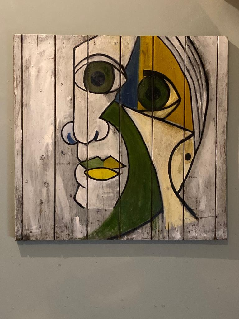 (after) Pablo Picasso Portrait Painting - Contemporary Abstract Oil Painting Portrait Dora Maar 1936 after Pablo Picasso