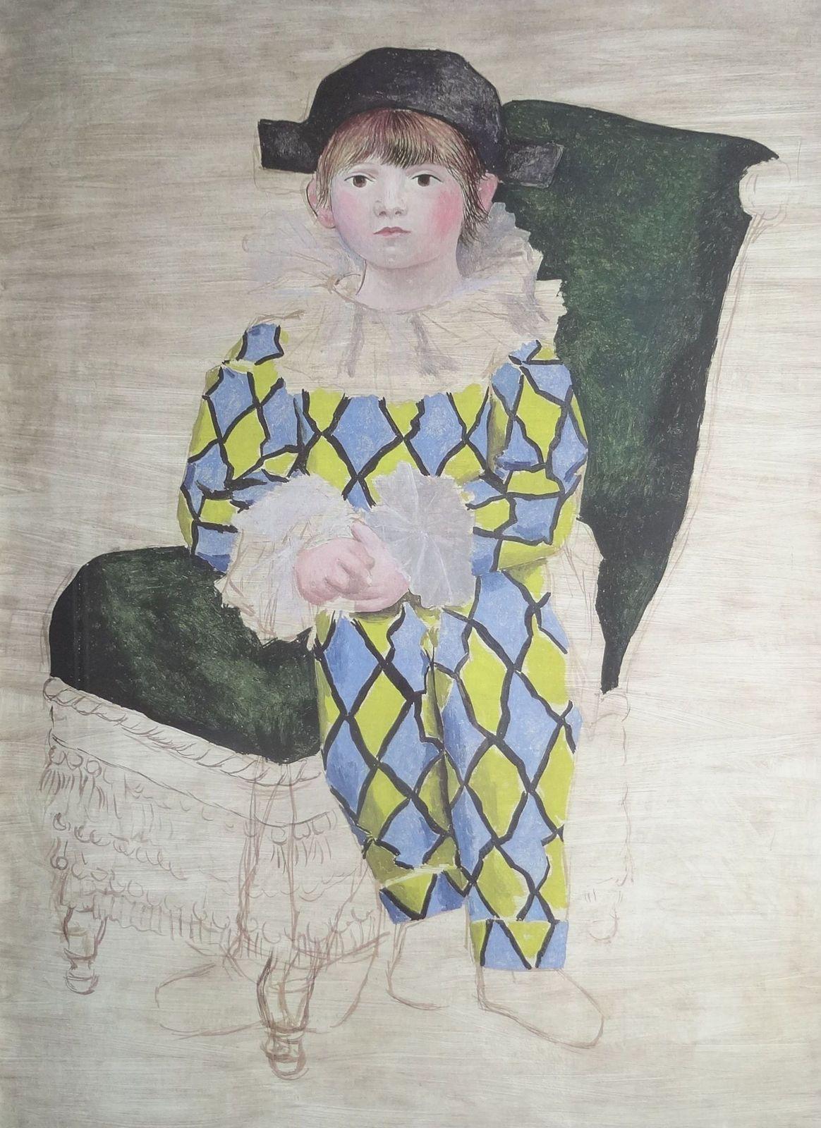 Paul als Harlekin. Succession Picasso paris 2014., 80x60 cm