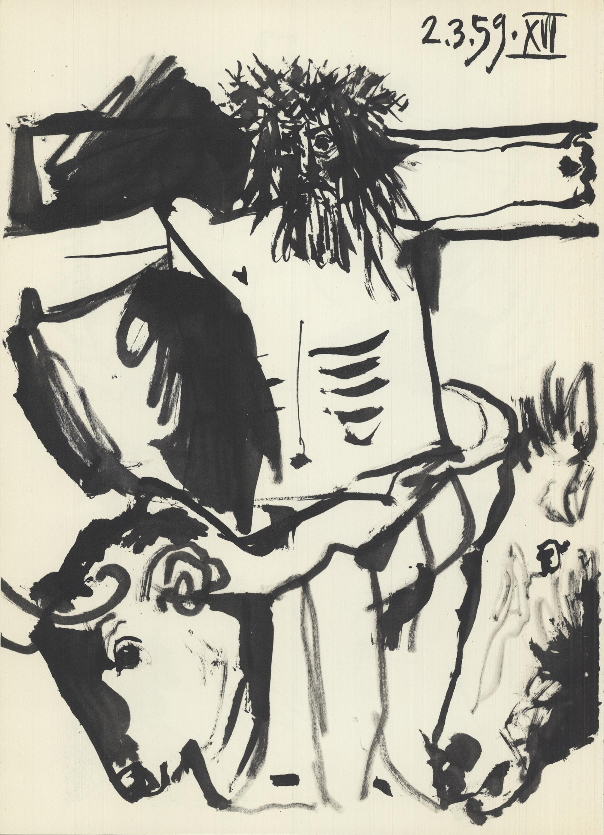 1959 Pablo Picasso 'Jesus on the Cross' Lithograph