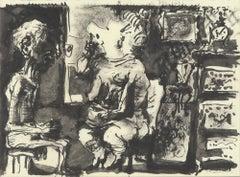 1959 Pablo Picasso 'Portrait of Man & Woman' Lithograph