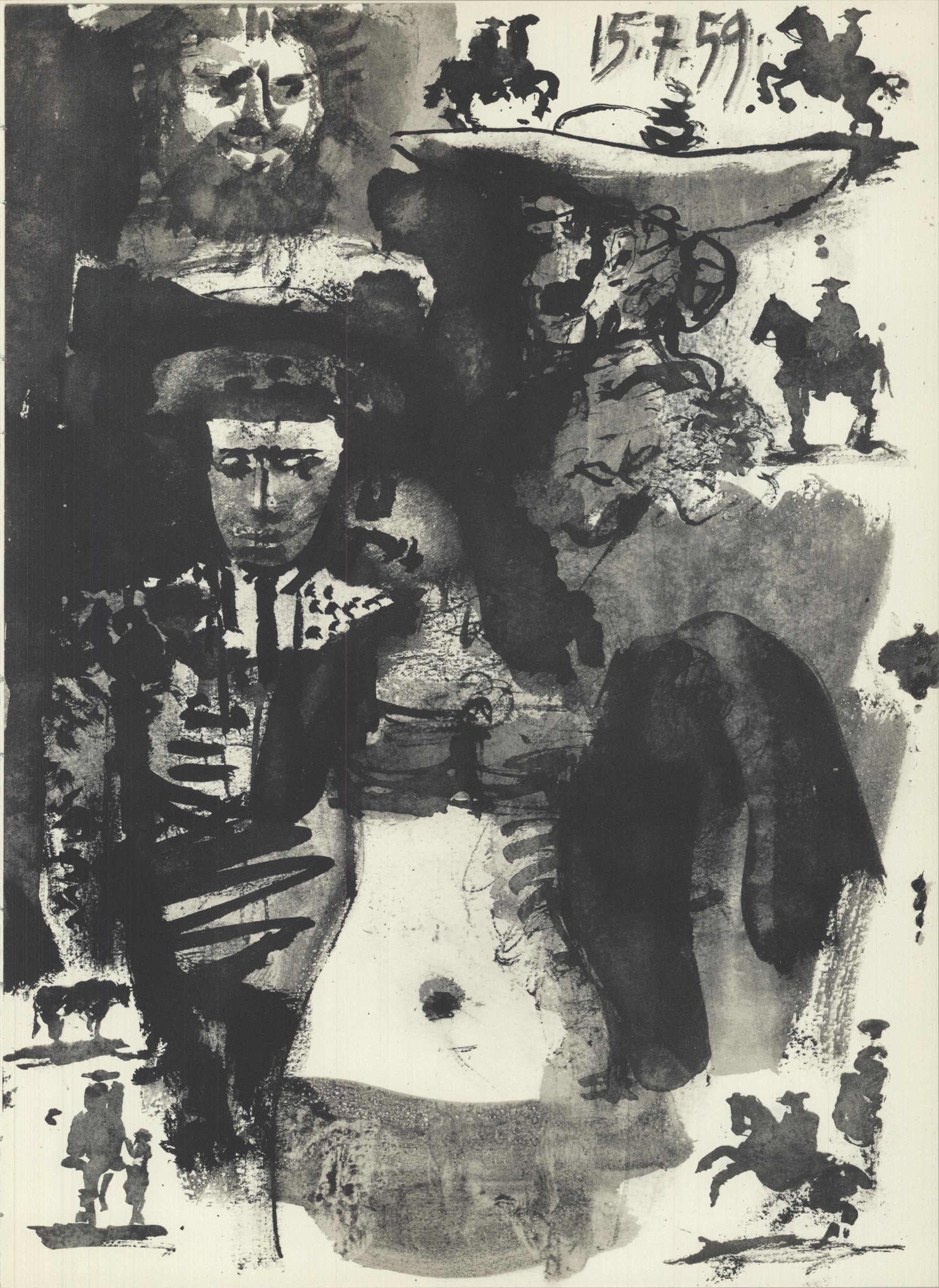 1959 Pablo Picasso 'Study of Bullfighter' Lithograph