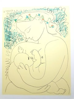 After Pablo Picasso - Maternity - Lithograph