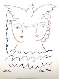 After Pablo Picasso - Women and Dove - Lithograph