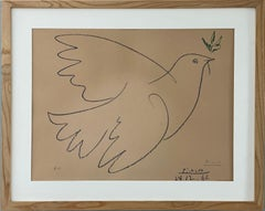 After Pablo Picasso Colombe Volant, 1961, offset lithograph 51x65 cm signed