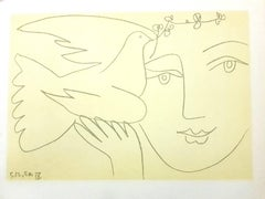 (after) Pablo Picasso - Face of Peace - Lithograph