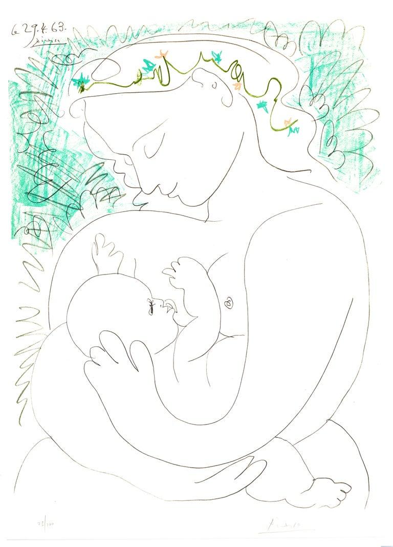 Pablo Picasso Nude Print - Maternity