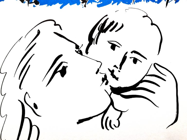 After Pablo Picasso - Mother and Child - Lithograph For Sale 1