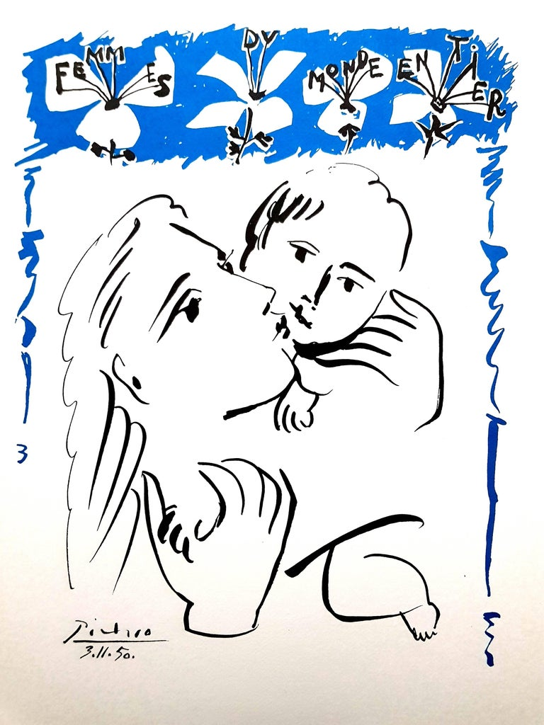 After Pablo Picasso - Mother and Child - Lithograph - Print by Pablo Picasso