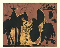 Avant la Pique  - Linocut Reproduction After Pablo Picasso - 1962