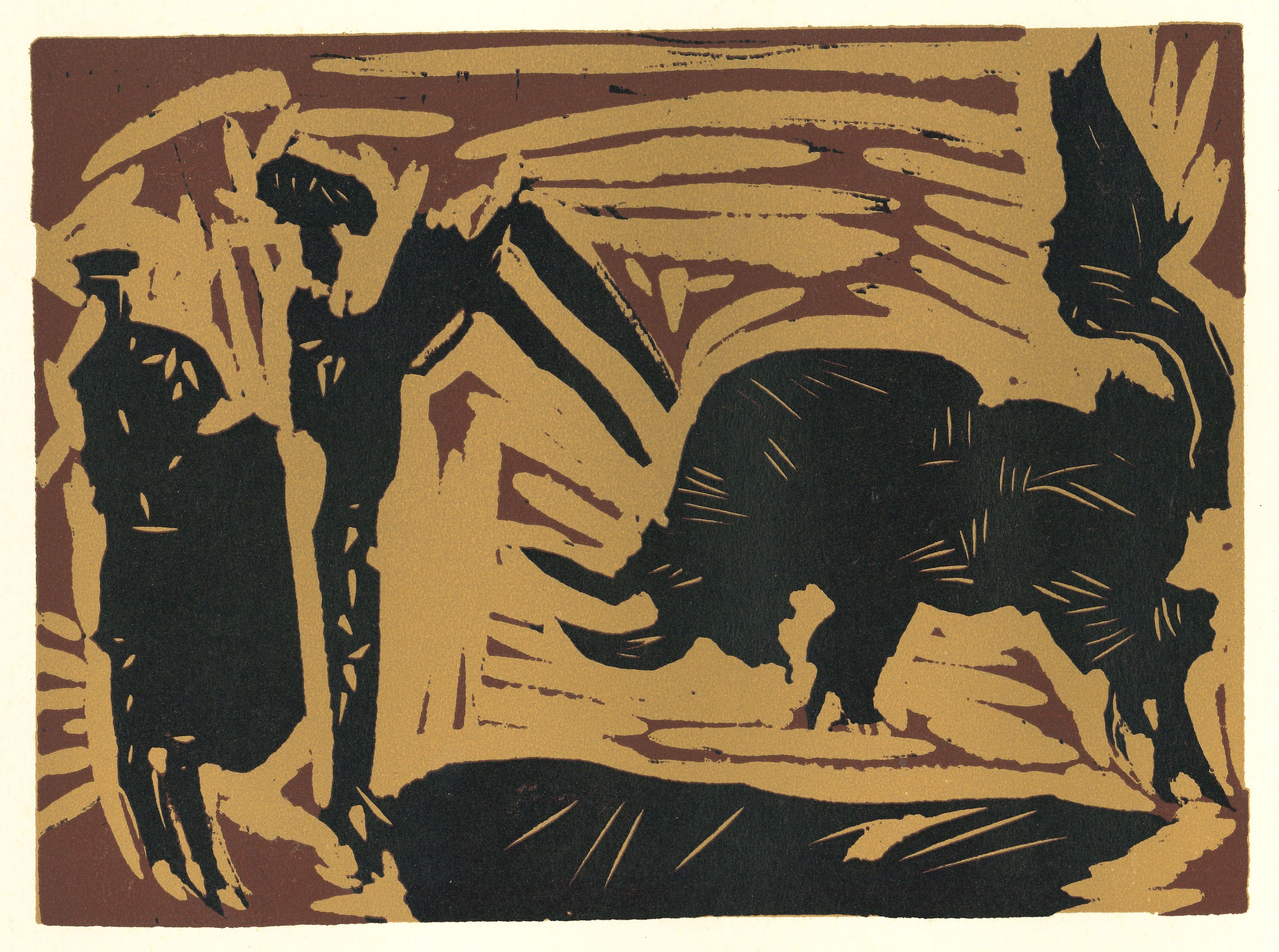 Banderilles   - Original Linocut After Pablo Picasso - 1962