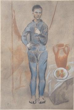 Boy with Blue Suit - Lithograph (c. 1950)