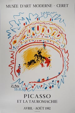 Bullfight, the Arena - Vintage lithograph exhibition poster # Mourlot
