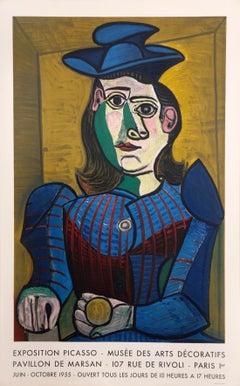 Buste de Femme au Chapeau Bleu - Musee des Arts Decoratifs, Lithographic Poster