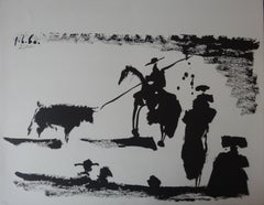 Corrida : In Front of the Bull - Lithograph