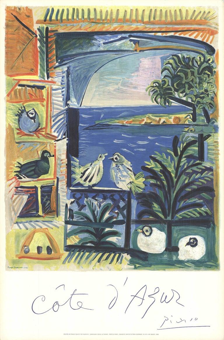 Pablo Picasso Still-Life Print - Cote D'Azur Poster