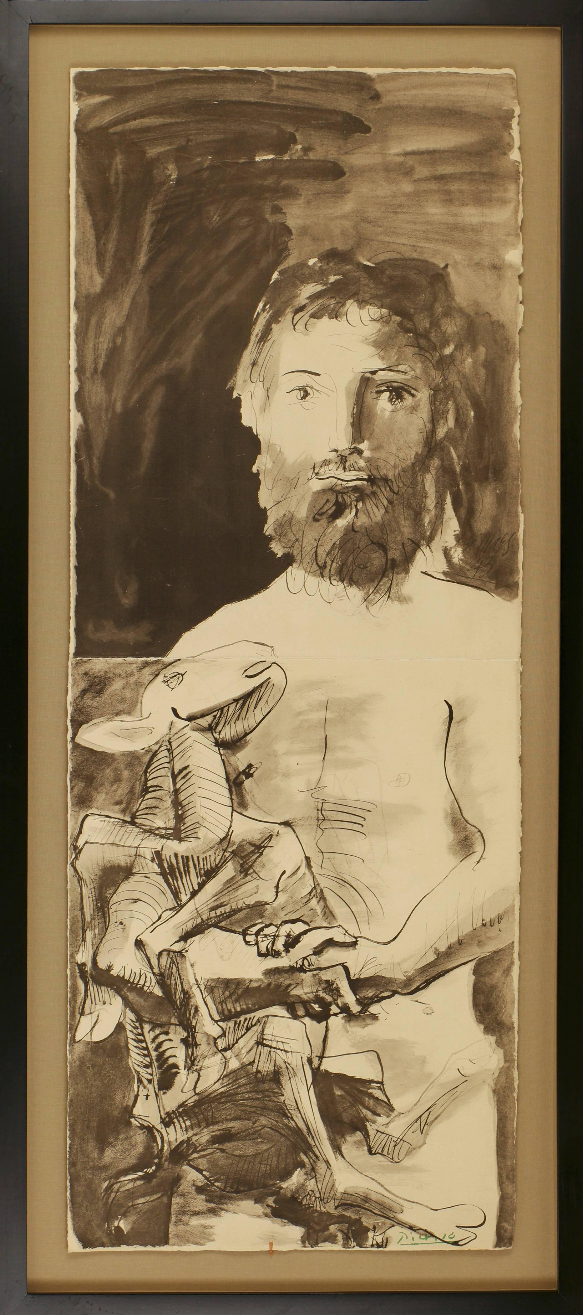 Etude pour L'Homme au Mouton by Pablo Picasso