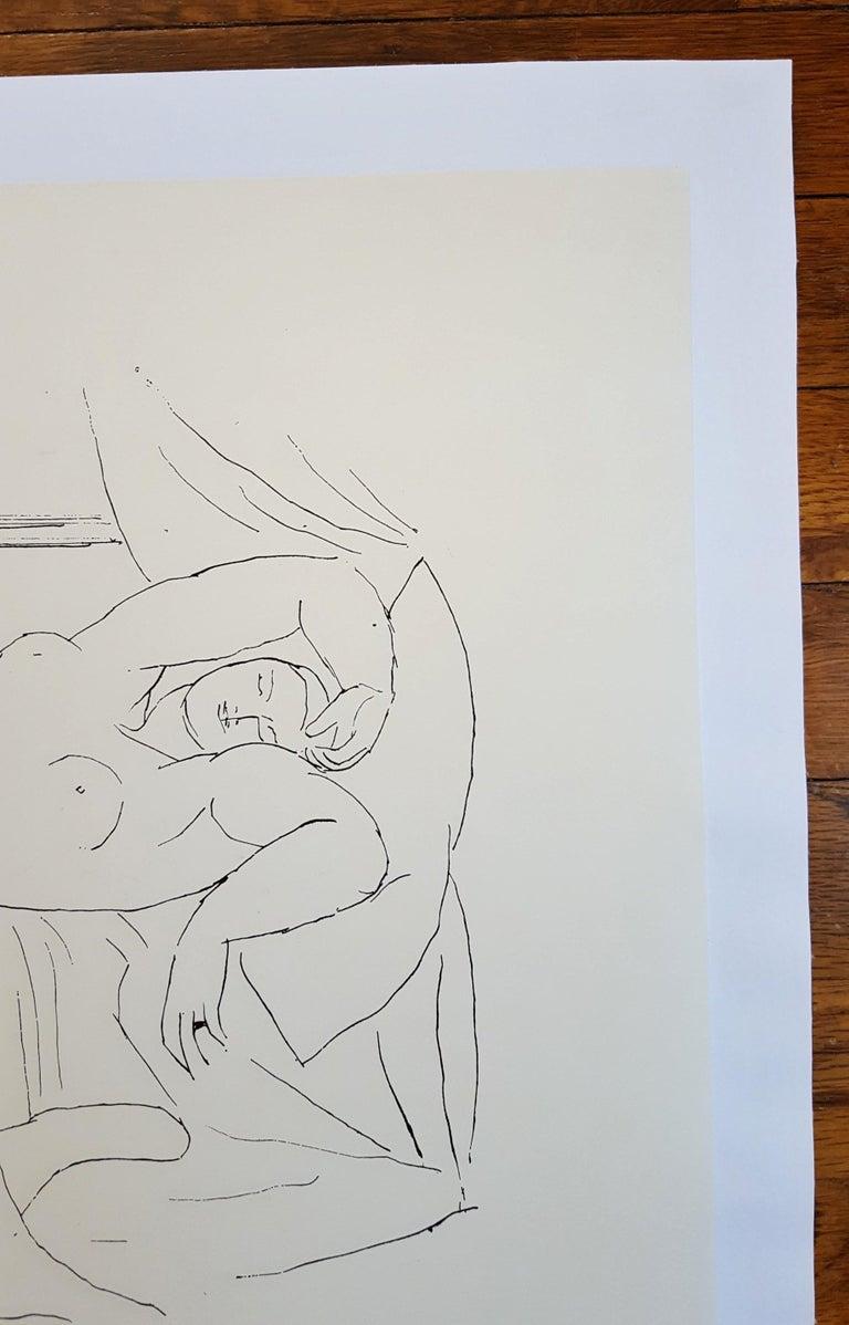 Expo 59 - Galerie de la Colombe - Gray Figurative Print by (after) Pablo Picasso