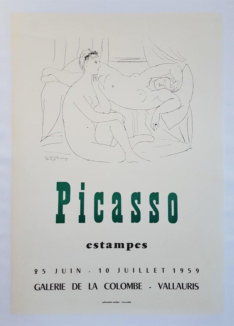 (after) Pablo Picasso Figurative Print - Expo 59 - Galerie de la Colombe
