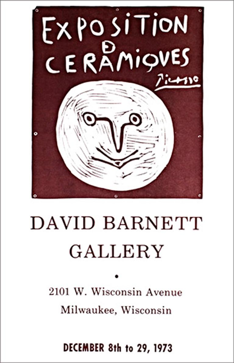 """""""Exposition Ceramiques Picasso, David Barnett Gallery,"""" Poster after P. Picasso"""