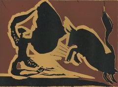 Farol - Original Linocut After Pablo Picasso - 1962