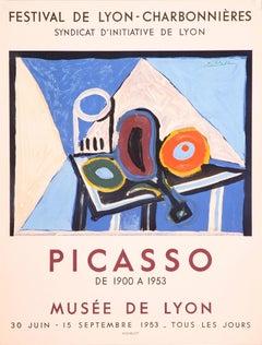 Festival de Lyon-Charbonnieres (after) Pablo Picasso, Lithographic Poster 1953