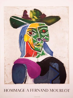 Hommage a Fernand Mourlot by Pablo Picasso lithographic poster
