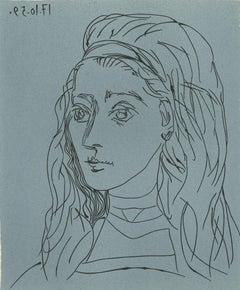 Jacqueline - Linocut Reproduction After Pablo Picasso - 1962