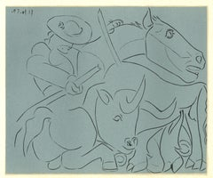 La Pique Cassée - Linocut Reproduction After Pablo Picasso - 1962