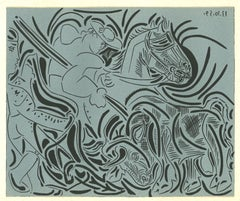 La Pique - Original Linocut After Pablo Picasso - 1962