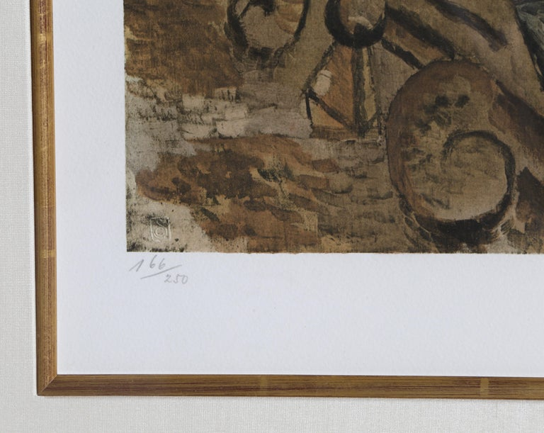 Le Bouteille de Rhum, Hand-signed by Picasso circa 1965 For Sale 1
