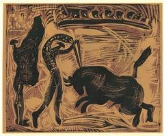 Les Banderilles  - Linocut Reproduction After Pablo Picasso - 1962