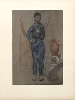 Young Boy in Blue Suit - Lithograph signed