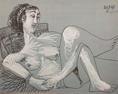 Lying Model - Lithograph (Mourlot 1971)