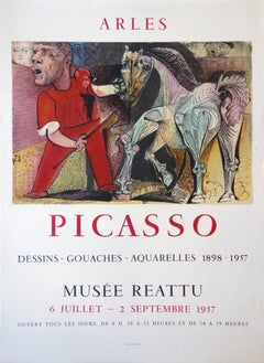 Man with a Horse - Vintage lithograph poster - Mourlot / Czwiklitzer #131