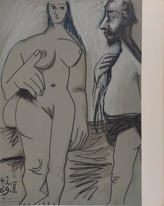 Model and Painter - Lithograph (Mourlot 1971)