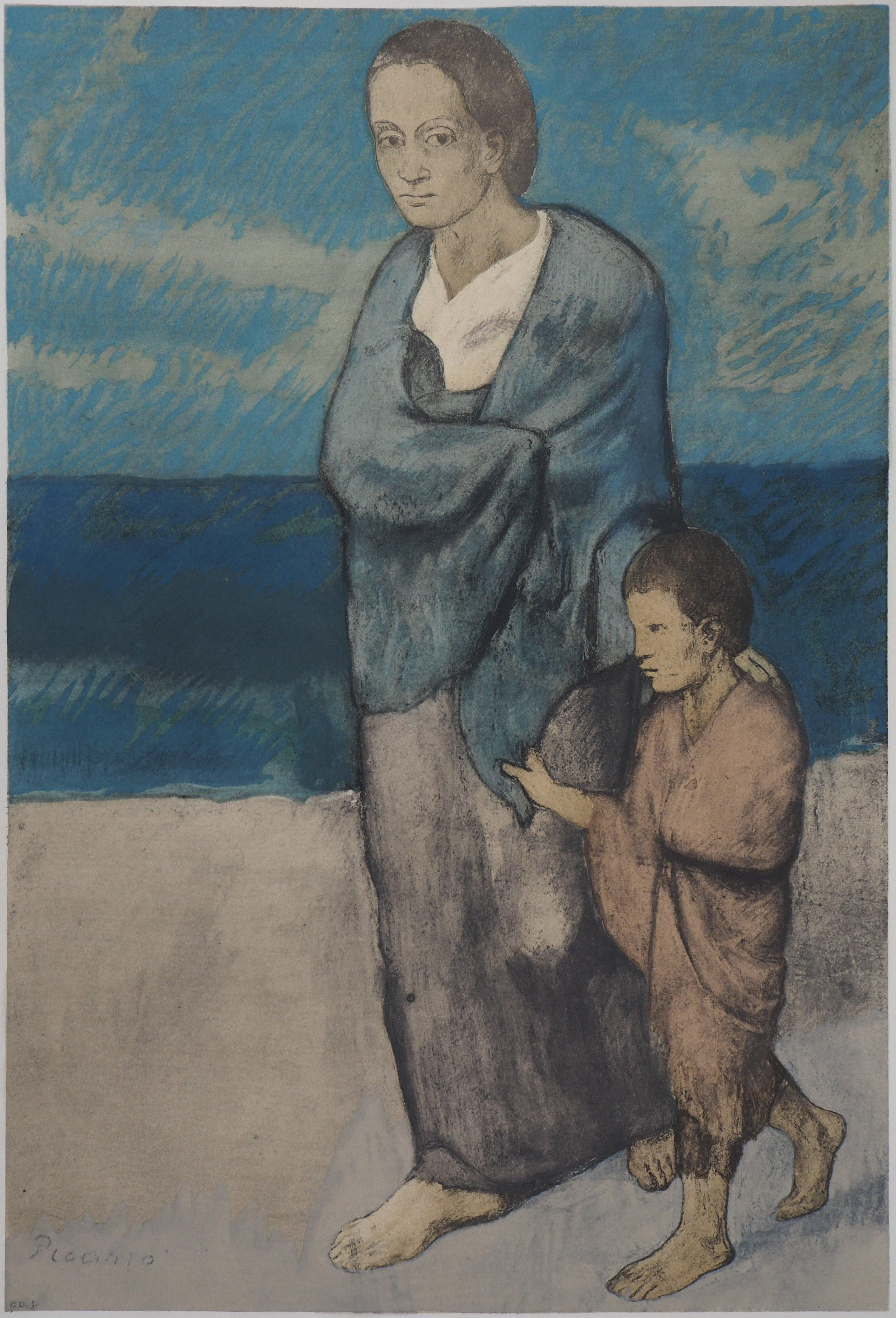 Mother and Child - Lithograph (c. 1950)