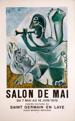 Nu Couché et Joueur de Flute - Salon de Mai (after) Pablo Picasso, 1970