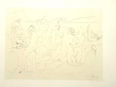 Pablo Picasso (after) - Bathers - Lithograph