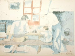 Pablo Picasso (after) - Family At Supper - Lithograph
